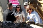 Sharon Burke_Katherine Hammack_listen to a brief_Experimental Forward Operating Base 2011 at Marine Corps