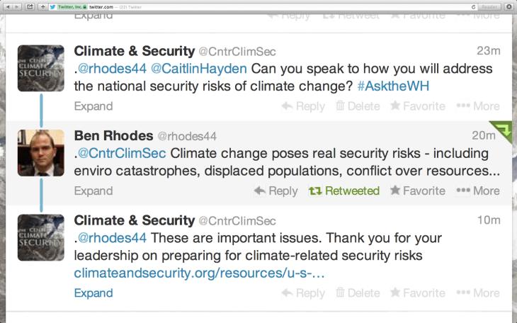 Twitter Exchange Ben Rhodes 1_29_14