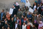 """Protesters marching in Cairo, """"Bread, Freedom, Social Justice By, Mariam Soliman from Cairo, Egypt"""