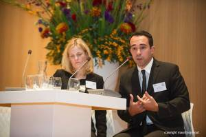 Caitlin Werrell and Francesco Femia, Co-Directors of the Center for Climate and Security, on a panel on Syria at the Planetary Security Conference, the Hague, 2-3 November, 2015