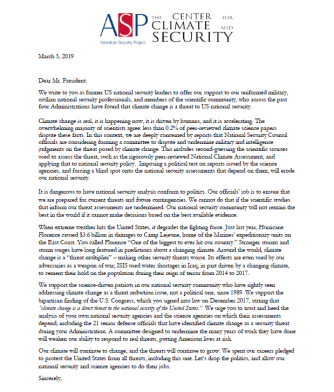 CCS_ASP Letter to the President