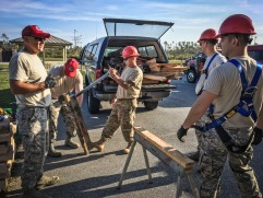 200th RED HORSE and 179th Airlift Wing Airmen aid in Hurricane Michael Recovery Efforts