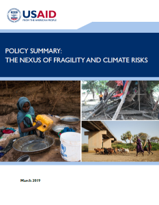 USAID_The Nexus of Fragility and Climate Risks_2019