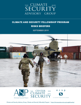 Climate Security Fellowship Program Risks Briefers 2019_Report Cover